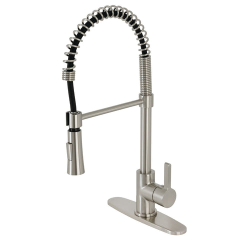 Continental Single Handle 1 or 3-Hole Pull-Down Spray Kitchen Faucet w/Metal Lever and Optional Deck Plate, 1.8 gpm