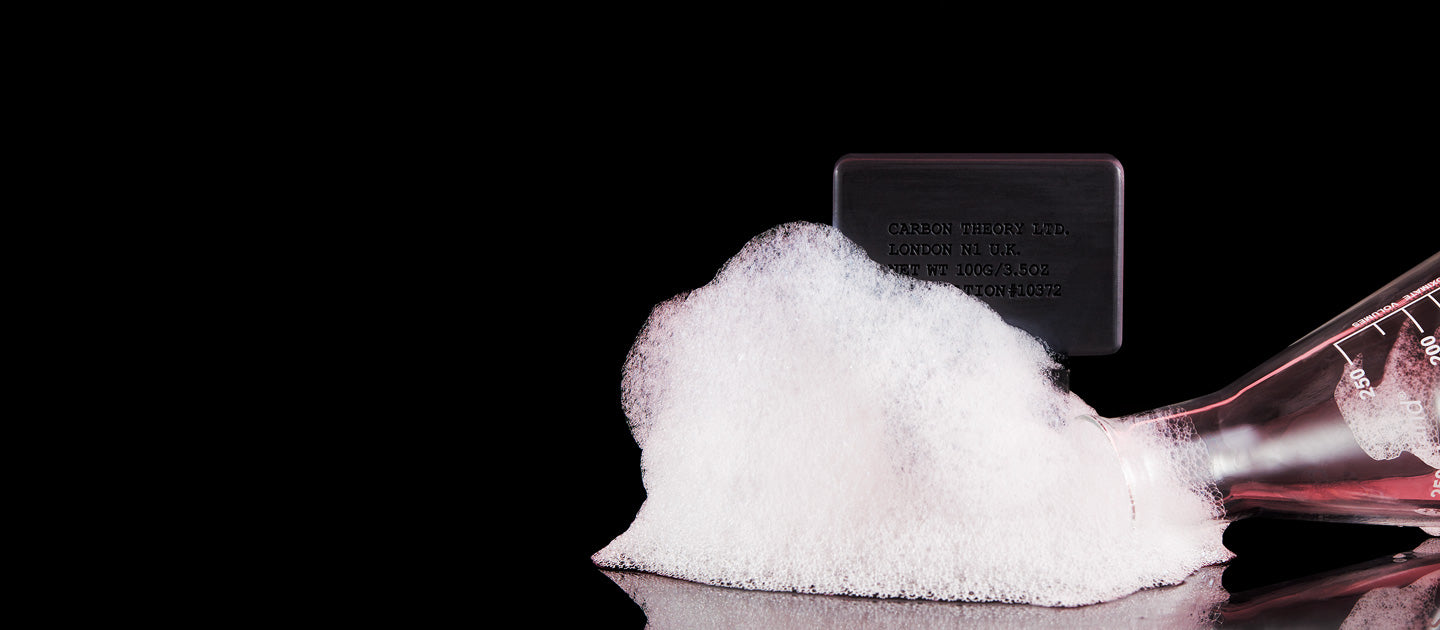 Holding Carbon Theory cleansing bar