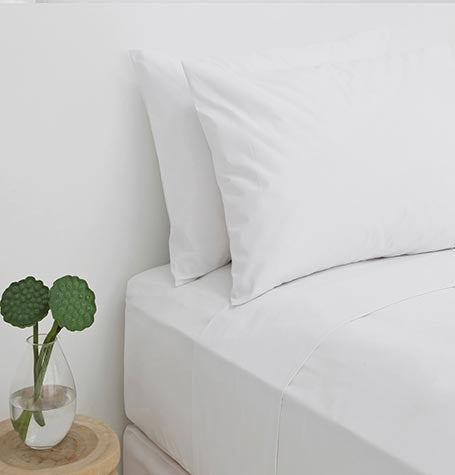 60|40 Cotton|Poly Guest Bed Linen - White