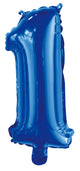 Number 1 Royal Blue Foil Balloon 35cm