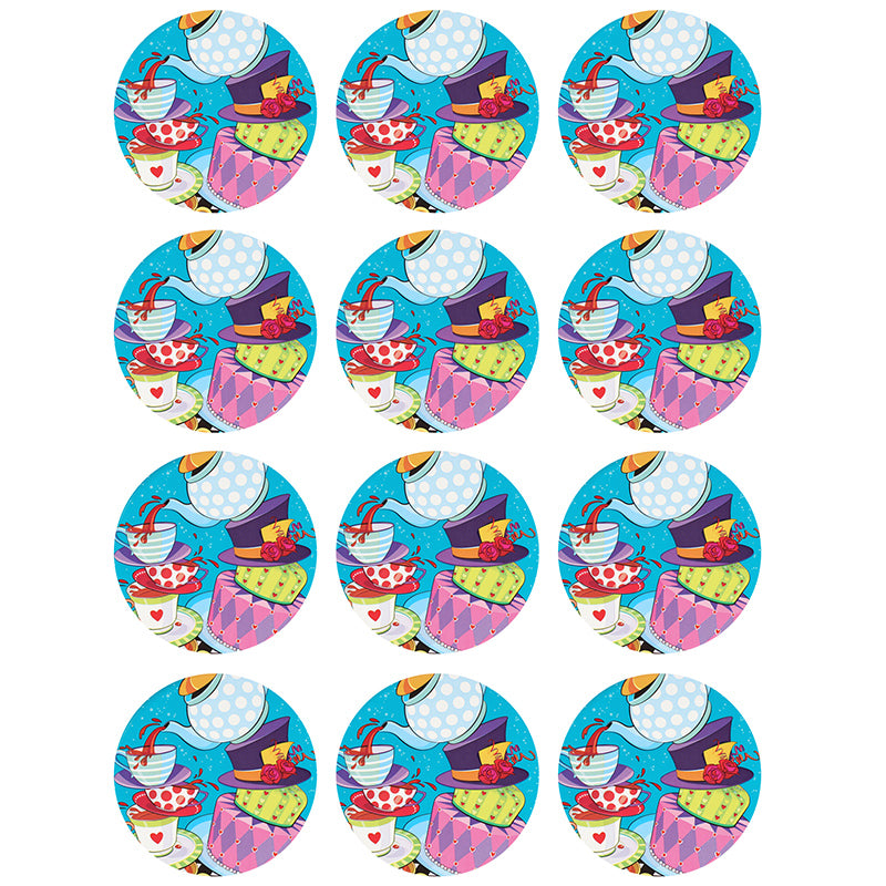 Alice In Wonderland Cupcake Edible Icing Image 6cm 12pk