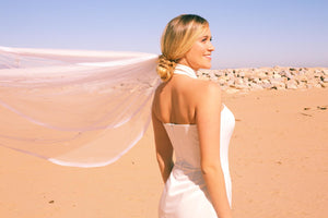 Double Tier Oval Veil with Lace Edging
