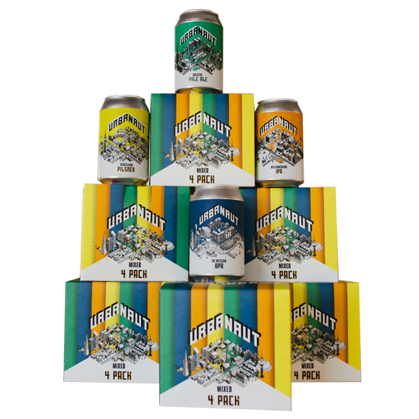 Single Mixed 4 Pack 330ml Cans (IPA, APA, Pilsner, Pale Ale)