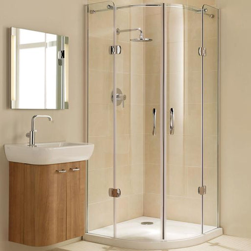 Coram Premier Frameless Hinged Quadrant Shower Enclosure - 8mm Glass