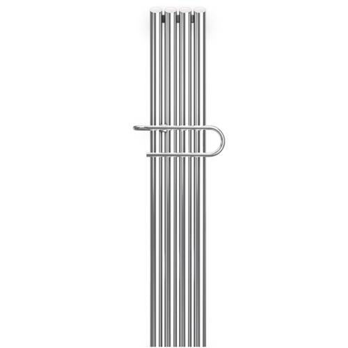 Bisque Quill Towel Radiator - Stainless Steel Mirror