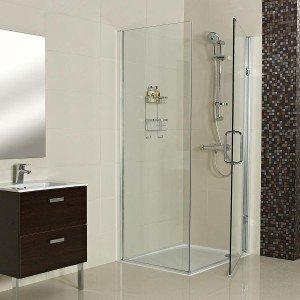 Roman Decem Hinged Corner Shower Enclosure with Curved Hardware
