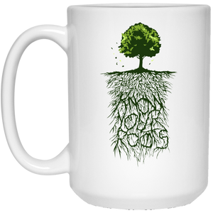 58 - RTP - Caffein Art - Know Your Roots - Vintage Art - 21504 15 oz. White Mug