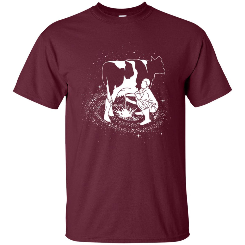 62 - RTP - Caffein Art - Milky Way - Animal Art - Adult Unisex T-Shirt
