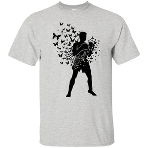 39 - RTP - Caffein Art - Float Like Butterfly Sting Like Bee - Doodle Art - Adult Unisex T-Shirt