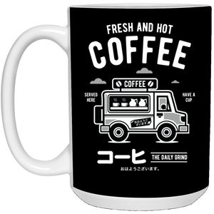 128 - RTP - Roach Graphics - Coffee Van-01 - 21504 15 oz. White Mug