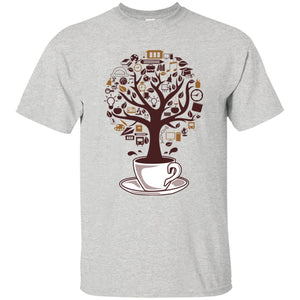 18 - RTP - Caffein Art - Coffee Tree - Doodle Art - Adult Unisex T-Shirt