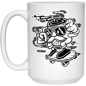 196 - RTP - Roach Graphics - Mr Coffee-01 - 21504 15 oz. White Mug