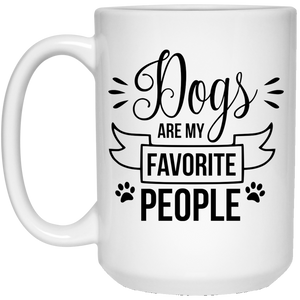 2139 - Dogs Are My Favorite People - 21504 15 oz. White Mug