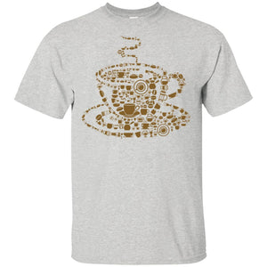 19 - RTP - Caffein Art - Coffee - Doodle Art - Adult Unisex T-Shirt