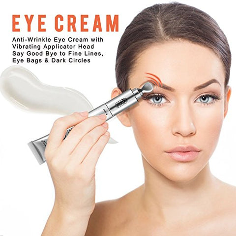 Eye Cream With Vibrating Massager