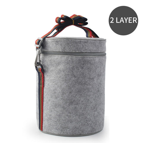 Stainless Steel, Thermal, Leak-Proof, Compartment Lunch Box