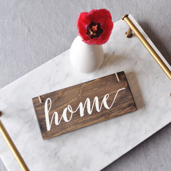 Home Sign, New Home Sign, Home Decor, Small Home Sign, Housewarming Gift, Hostess Gift, New House, New Home Gift