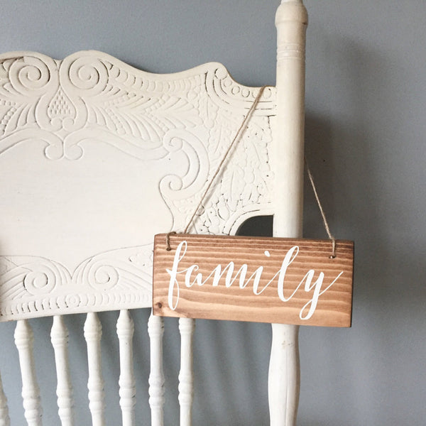 Family Hanging Sign, Small Family Sign, Family Portrait Sign, Family Home Decor, Family Photo Decor, Family Decor, Family Love, Family Sign