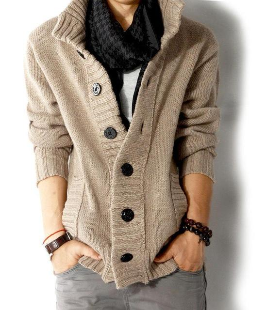 Knitted Cardigan Sweater (4 colors)