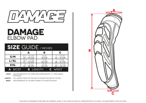 Size Guide Elbow Pads