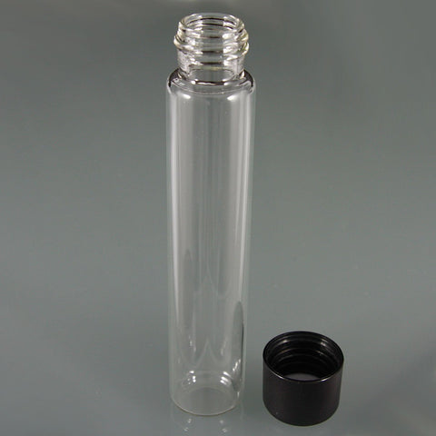 Glass Tube with Child-Resistant Black Lid 22mm x 116mm