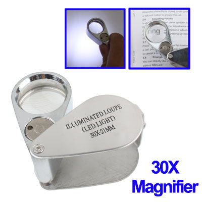 21mm Loupe 30X Magnification with LED Lights