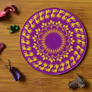 Warli - Purple | Coaster