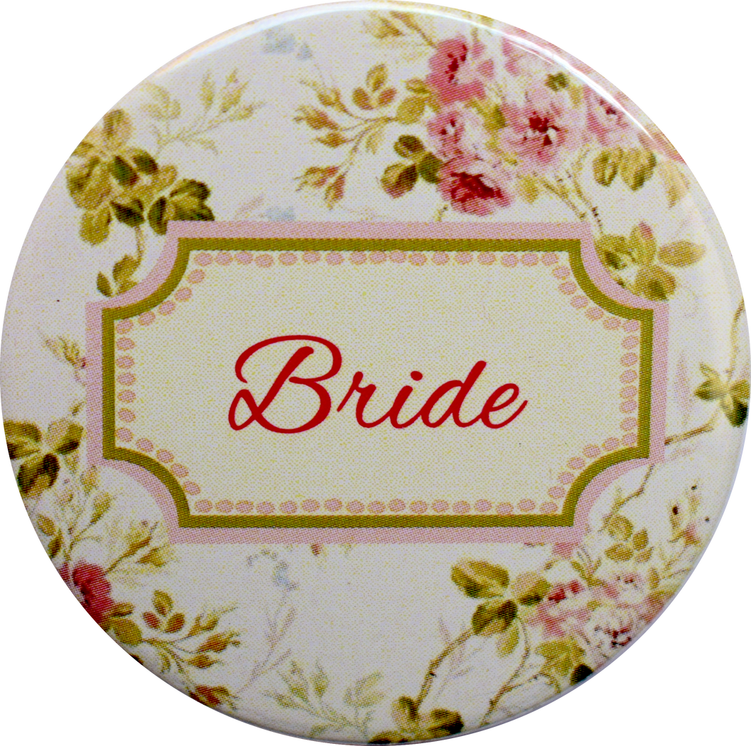 Bride! Floral Badge