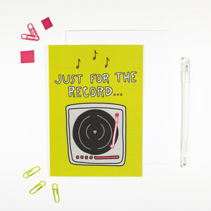 Just For The Record Card for Music Lovers by Angela Chick