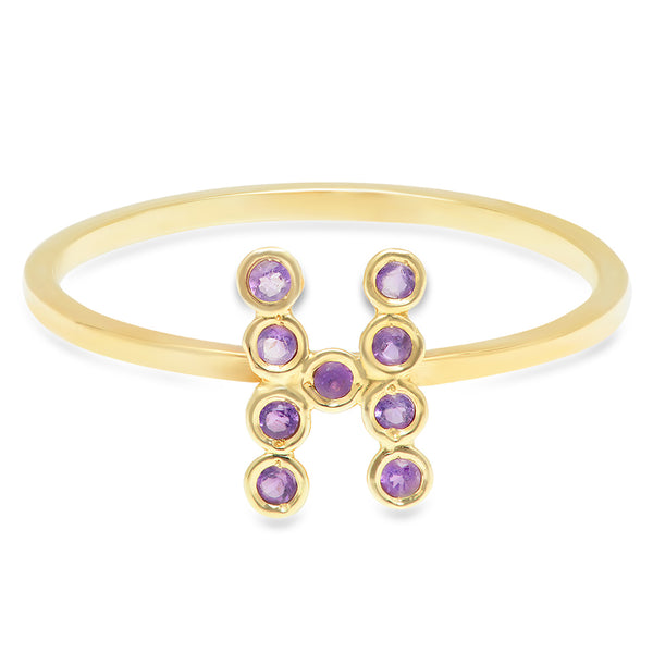 DSJ's Signature Meaningful Birthstone & Initial Ring