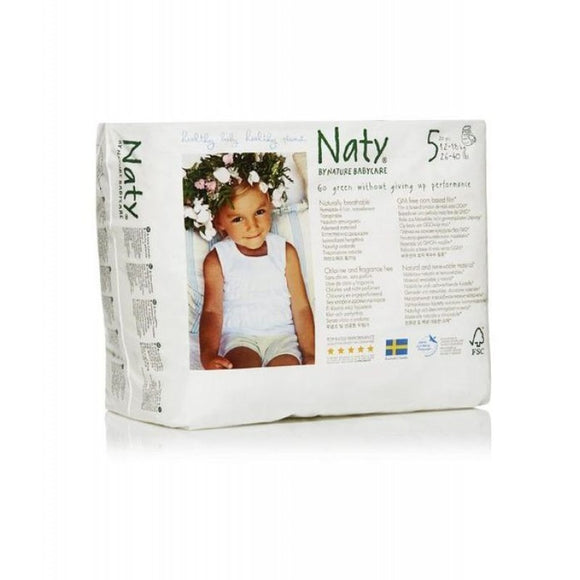 Nature Baby Naty Nappy Pants - Size 5 /Junior Nappy Pants, 12-18kg (26-40lb)