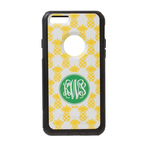 pineapple printed Otterbox case with monogram