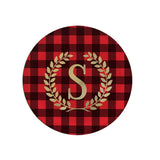 Monogram Buffalo Plaid Dinner Plate