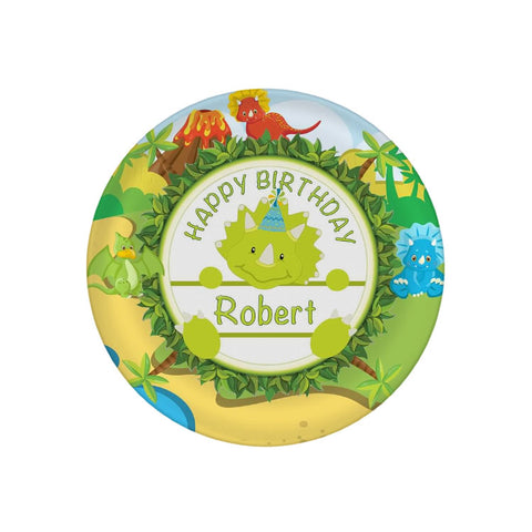 Personalized Dinosaur Birthday Plate