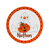 Personalized Ghost Halloween Plate