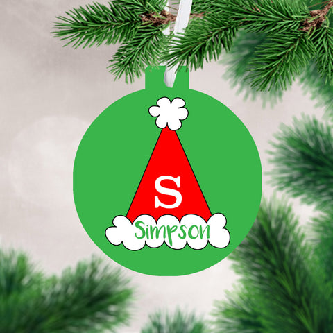 Personalized Name & Initial Ornament
