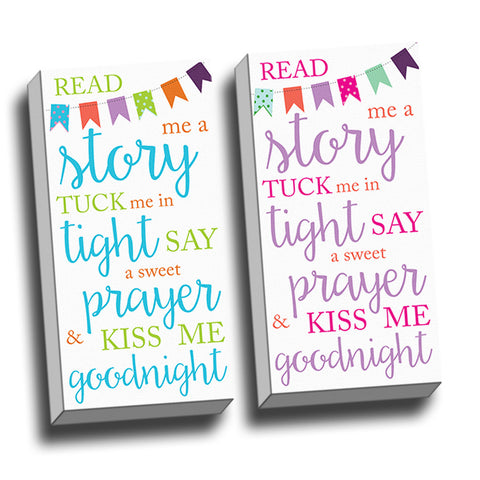 Read Me A Story Canvas Wall Art