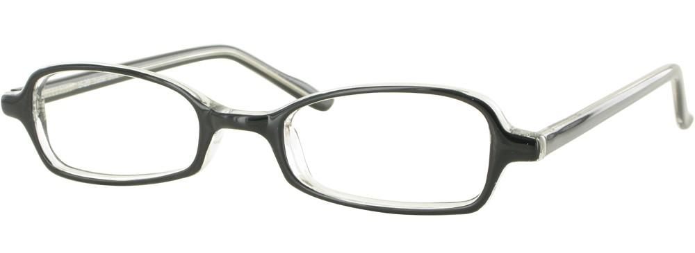 Black/Crystal-Modern Rectangular U 20 Frame-Prescription Glasses-Eyeglass Factory Outlet