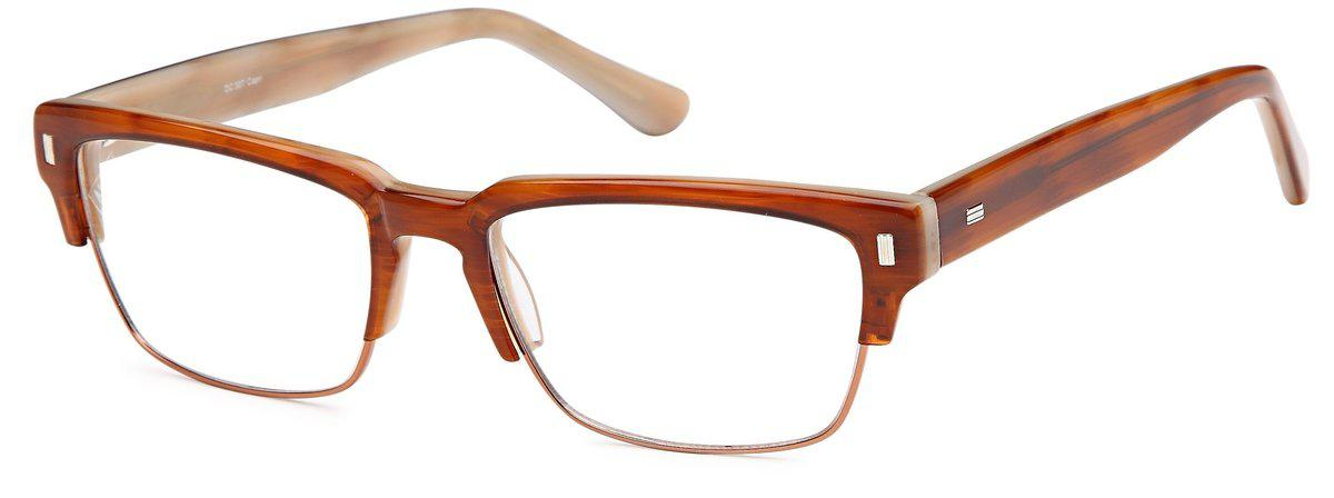 Brown-Classic Club Master DC 307 Frame-Prescription Glasses-Eyeglass Factory Outlet