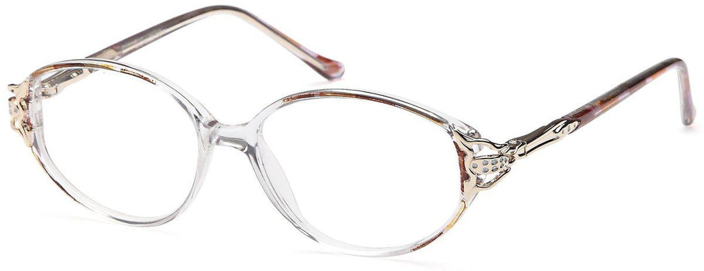 Pink/Gold-Classic Oval Michelle Frame-Prescription Glasses-Eyeglass Factory Outlet