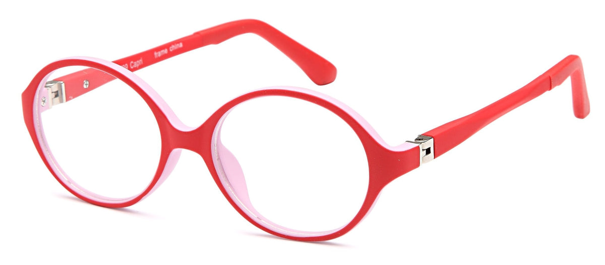 Red-Modern Round T 29 Frame-Prescription Glasses-Eyeglass Factory Outlet
