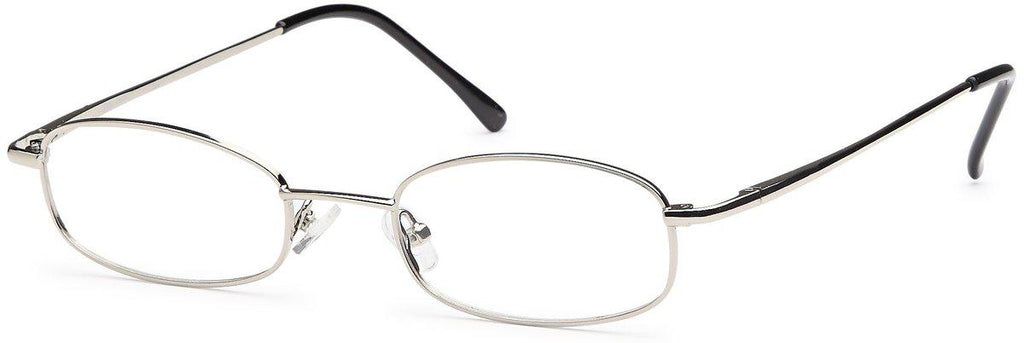Silver-Classic Oval PT 62 Frame-Prescription Glasses-Eyeglass Factory Outlet