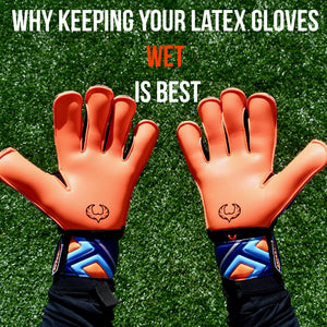 Why keeping your latex gloves wet is best.