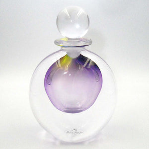 ECLIPSE GLASS PERFUME BOTTLE CLEAR LILAC / YELLOW
