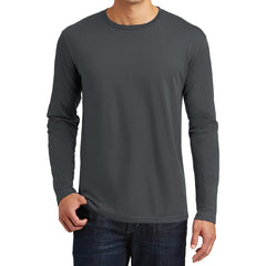 Mens Perfect Weight Long Sleeve Tee - Charcoal - Front