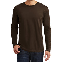 Mens Perfect Weight Long Sleeve Tee - Espresso - Front