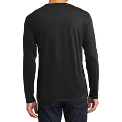 Mens Perfect Weight Long Sleeve Tee - Jet Black - Back