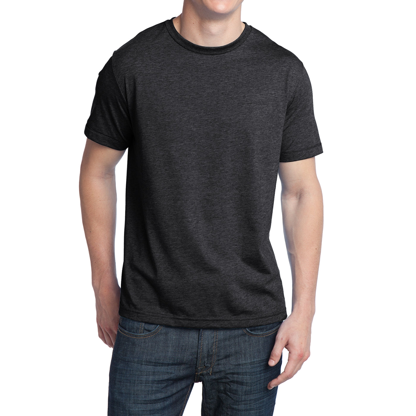 Men's Young Tri-Blend Crewneck Tee - Charcoal Heather