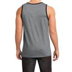 Men's Young Cotton Ringer Tank - Heathered Steel/Black