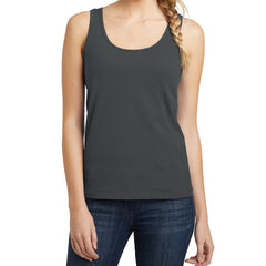 Women's Juniors The Concert Tank - Charcoal